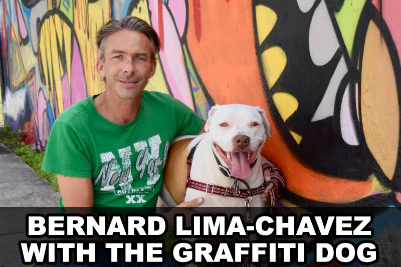 Bernard Lima-Chavez with The Graffiti Dog